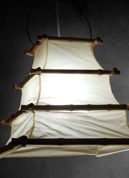 Bamboo and Cloth 16x12 Lanterns $16 each / 3 for $15 each idea for lampshade... diy