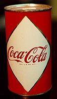 First Coca Cola can ever in the world. Dr. John Stith Pemberton Asa Candler Hutchinson can.