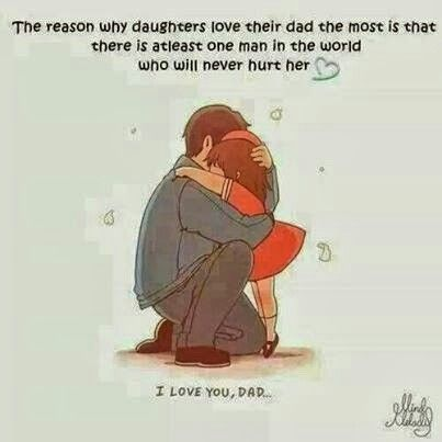 THINGS MY DAD DID - Comfort me when I cried, taught me that while not everyone will be nice to you, to accept it and be tough, and love yourself!