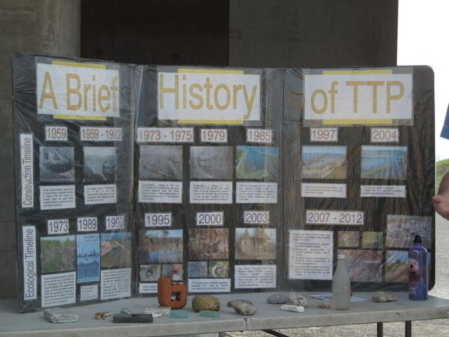 A bird festival display about the Tommy Thompson park