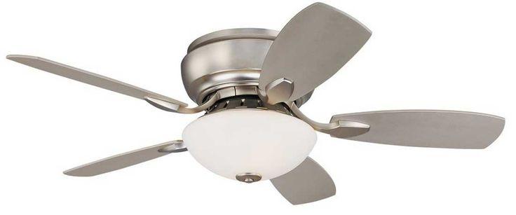 Casa Habitat 44-inch Brushed Steel Flush Mount Hugger Ceiling Fan