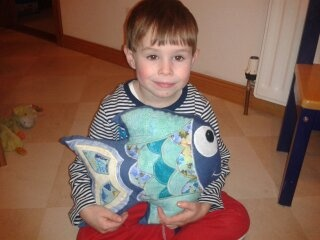 Fishy cushion for my youngest son
