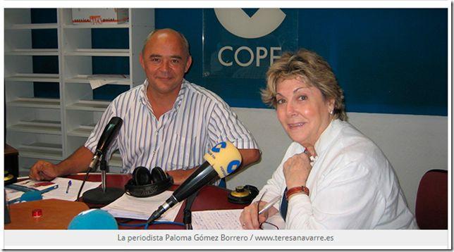La periodista, Paloma Gómez Borrero, que durante tres décadas fue corresponsal de COPE en el Vaticano, visita Peñaranda de Bracamonte donde ofrecerá un concierto-recital poético titulado «Una caste...