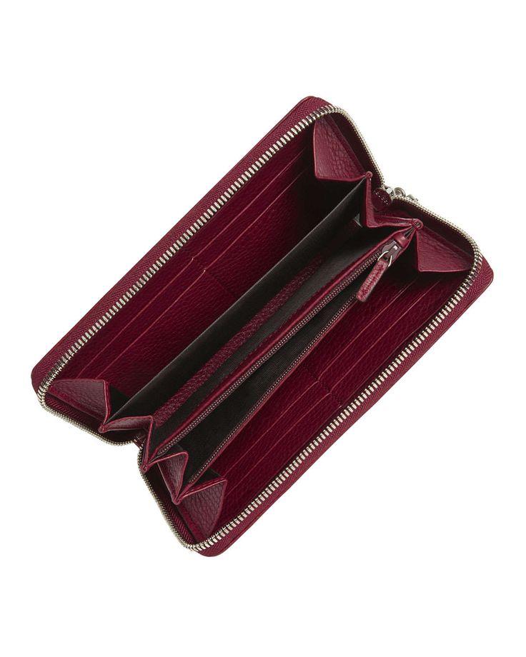 Soho Leather Zip-Around Wallet, Soft