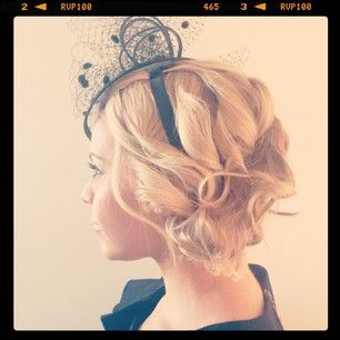Race day hair. Side Chignon - we used the new #silverbullet city chic conical curling iron coming soon to I-glamour #derbyday #melbourne