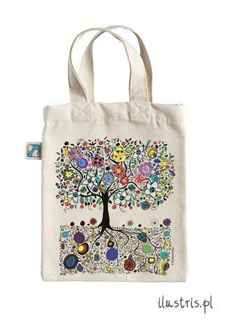 Mała torba bawełniana  37 -  Drzewo