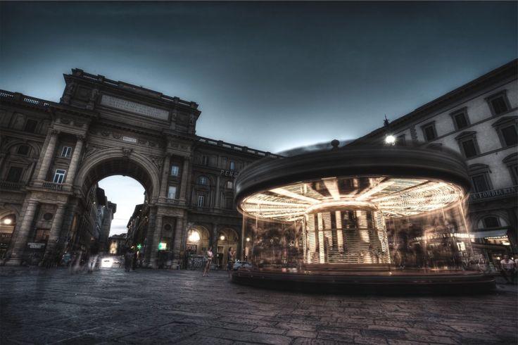 Fondo de Pantalla de Plaza, Atracción, Luz, Movimiento, Edificios