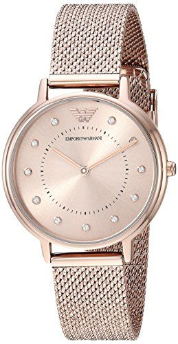 12ba853375 Emporio Armani Womens Quartz Stainless Steel Casual Watch Color:Pink  (Model: AR11129)