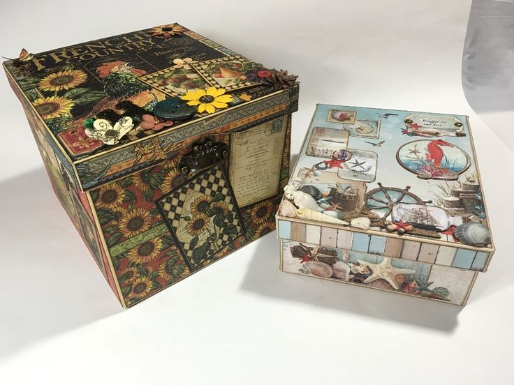 Two handmade memory boxes - Tutorial available!   Creator's Image Studio