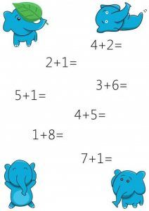 addition-worksheets-with-elephant