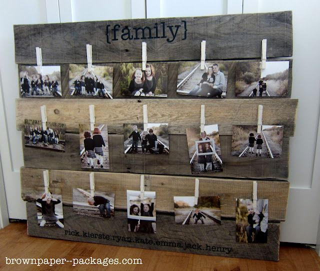 Wood Pallet Photo Display using clothespins ~ love love love!