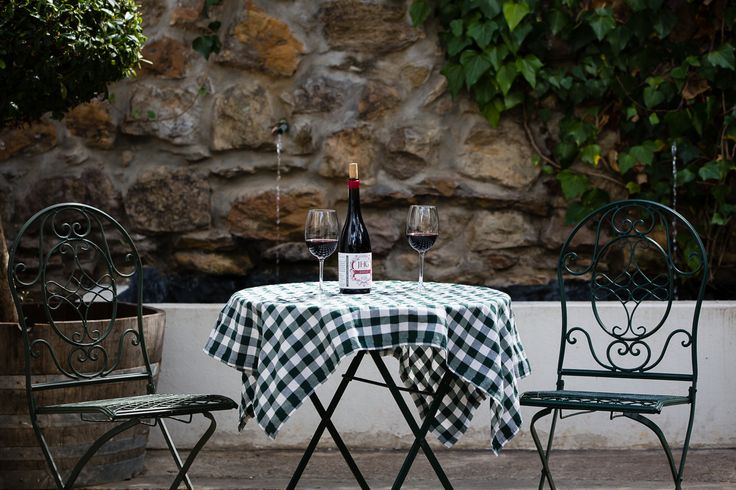 Room 8 patio to enjoy the beauty of the herb garden while listening to the water fountain gently sooth you as you sip on our delicious JHG Wines!