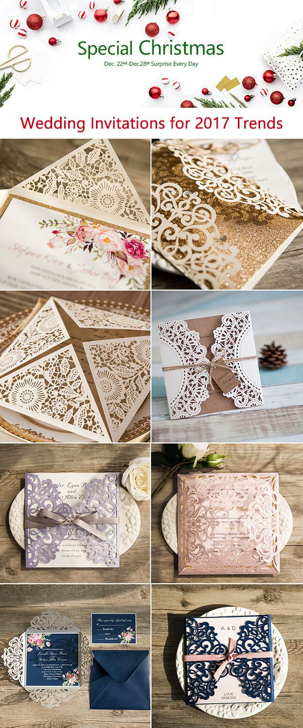 Christmas Sale-elegant wedding invitations 2017 trends