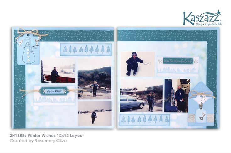 2H1858s Winter Wishes 12x12 Layout