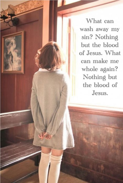 """Hebrews 9:12 (KJV) """"Neither by the blood of goats and calves, but by his own blood he entered in once into the holy place, having obtained eternal redemption for us."""""""