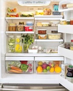 Do you want to eat healthier? Organize your fridge & fill it with healthy foods. After all, you reach for what you see!