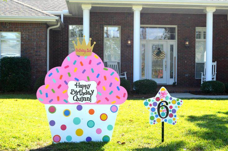 how to make yard signs for birthday