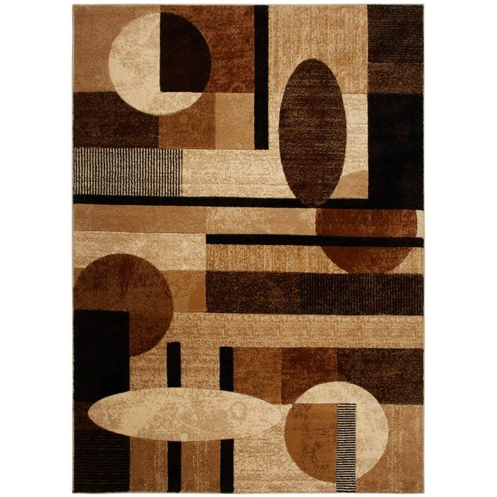 Nolan Modern Geometric Beige Brown Black Area Rug Area Rugs