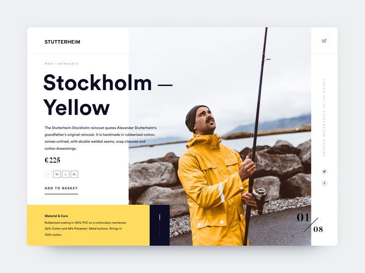 Stutterheim website concept #webdesign #UI #UX #stutterheim #productpage #website #design