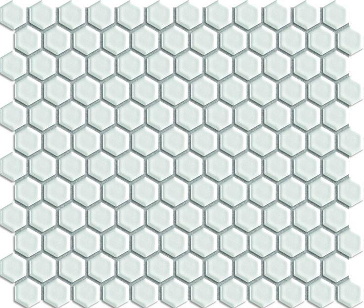 Keram.moz.bílá hexagon lesk 2,3/2,6