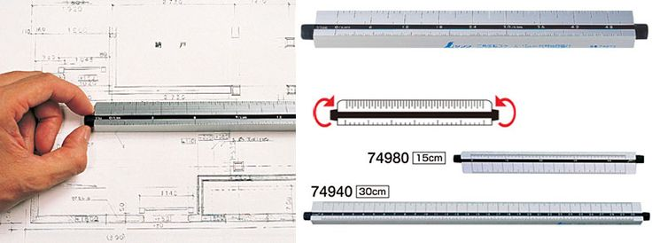 Triangular Scales ruler