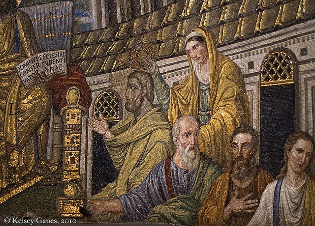 Basilica di Santa Pudenziana - Apsidal Mosaics by kganes, via Flickr #INVASIONIDIGITALI 20/04/2013 ore 15:00 Invasore: @arttrip1