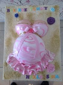 Pregnant Belly Cake for baby shower