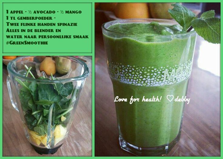 #GreenSmoothie avocado-appel-mango