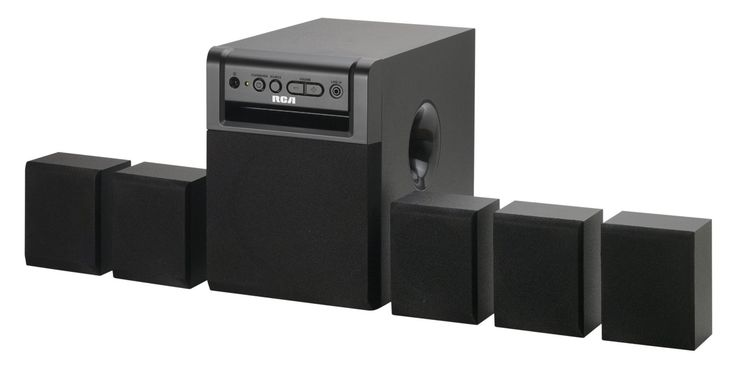 Surround sound system - this is an el cheapo one but seems like it'd work
