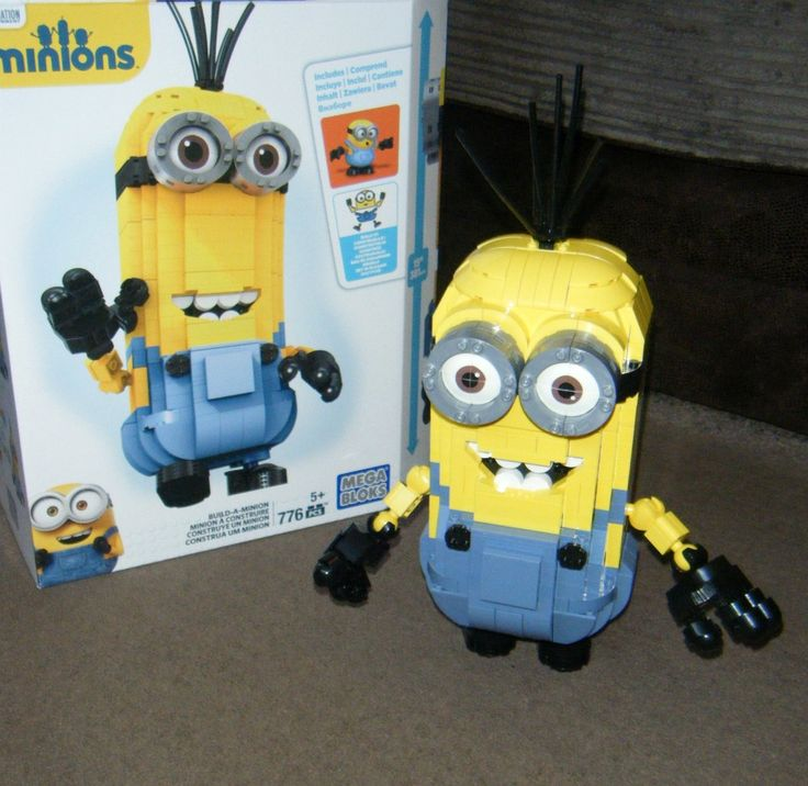 Mega Bloks Build-a-Minion #review #toy #minions #kids #kevin