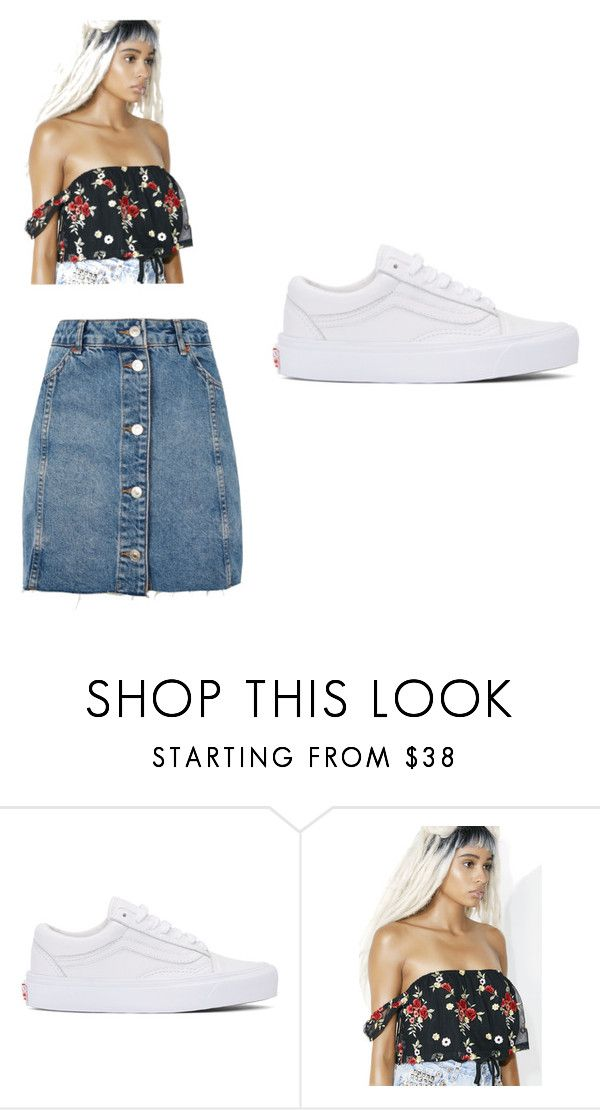 """""""Slay outing outfit #4"""" by jnantchouang on Polyvore featuring Vans, Honey Punch and Topshop"""