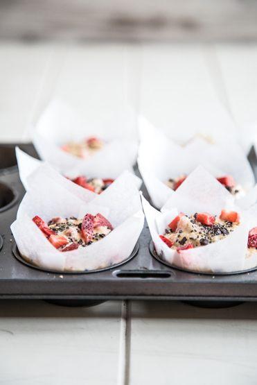 Loving Earth - Recipes - Strawberry Coconut Muffins