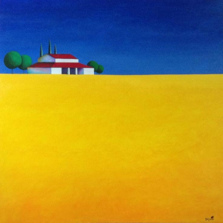 """""""Oceano grano"""" Acrilico su tela 100 x 100. (2014)"""