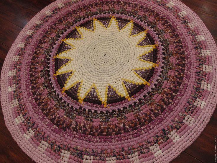 """Купить Текстильный ковер """"Зимнее солнцестояние"""" - сиреневый, желтый, лиловый, фиолетовый, ковер, текстильный ковер"""