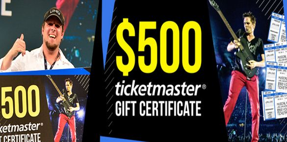 If you are looking for a Ticketmaster gift certificate to promote the live concerts you are organizing, this gift certificate template would be great option for you. The template looks lovely and bright with a rocking picture of a live concert and the gift value is to be mentioned in the middle of the certificate.