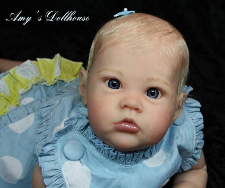 "Amy's Dollhouse Lifelike Reborn Baby B Brown""Sharlamae"" MRMH Tummy Plate | eBay"