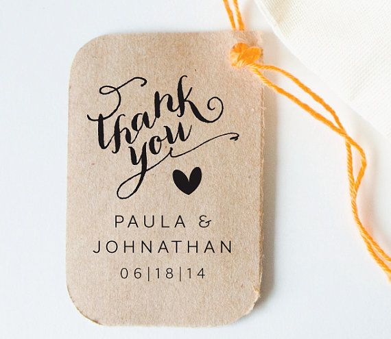 Personalized Custom Wood Handle Wedding Favor Tag Rubber Stamp, Calligraphy,  Wedding, Wedding Favor Tag, Wedding Thanks You on Etsy, £21.46