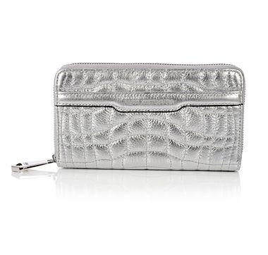 Aimee Kestenberg Quilted Croco Zip Around Wallet