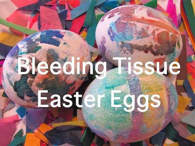 Bleeding Tissue Easter EggsMuffins Trees, Chocolates Muffins, Tissue Easter, Easter Spr, Easter Eggs, Tissue Paper, Bleeding Tissue, Eggs Decor, Easter Ideas