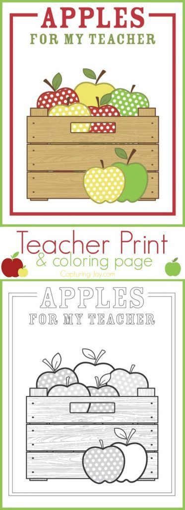 Best 300 teacher appreciationsmall gift ideas images on pinterest apple teacher gift idea print and coloring page a great teacher gift idea or back negle Images