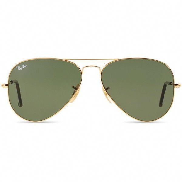 Ray Ban Aviator Sonnenbrille 58 Mm 160 Usd X2764 Gefallt Bei Polyvore Mit Accessoires Brillen Sonnenbrillen Brill In 2020 Goldene Sonnenbrille Ray Bans Brille
