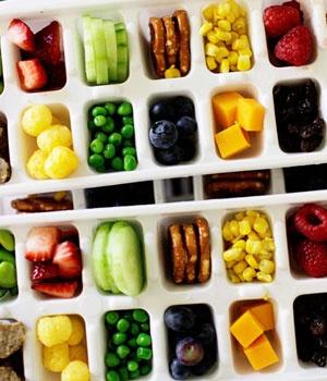 Buffet Trays - Ice Cube Trays with Fruit & Vegies