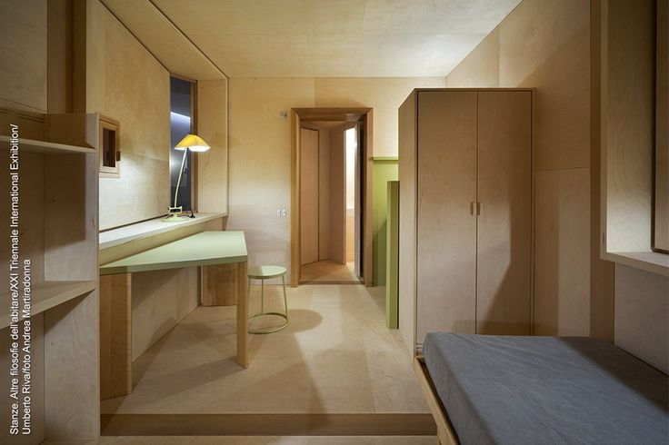 The idea of rethinking the Cabanon, the bolt-hole built by Le Corbusier on the Côte d'Azur in 1952, becomes cause for reflection on the amount of space man effectively needs. This inspired Umberto Riva to create his room La petite Chambre.