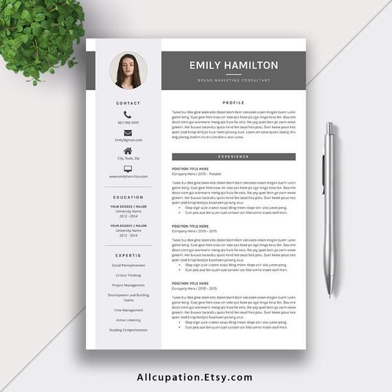 Professional Cv Resume Template For Microsoft Word Modern Etsy Resume Template Resume Template Professional Cv Resume Template