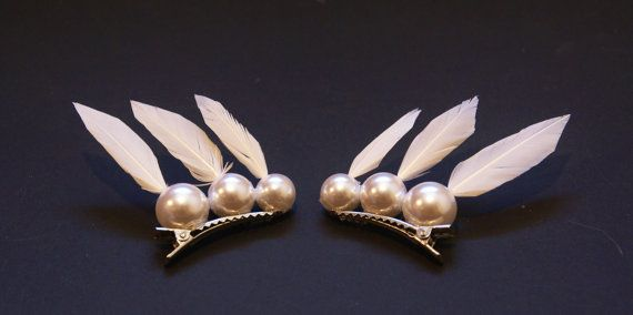 Sailor Moon and Chibi-Moon Cosplay Feather Barrettes