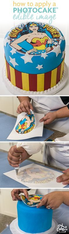 Learn how to apply an edible cake image to your cake.