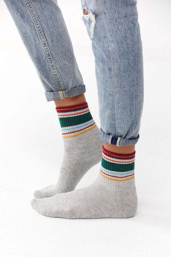 Out From Under Multi-Striped Crew Sock