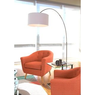 Shop for Salon Brushed Metal Contemporary Arch Floor Lamp. Get free shipping at Overstock.com - Your Online Home Decor Outlet Store! Get 5% in rewards with Club O! - 20874646