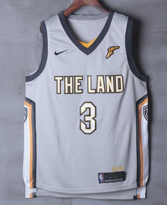2b6d88c54ab Men 3 Isaiah Thomas Jersey the Land Gray Cleveland Cavaliers Jersey City  Edition