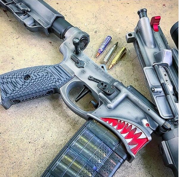 "tacticalsquad:  "" spikes_tactical What a great NRA Show so far! Here's to a Hellbreaker of a weekend!  #Repost @kocustoms  ・・・  Starting Saturday off right!! #hellbreaker #merica🇺🇸 #ar15 #ar15news #ar15build#cerakotethatshit #cerakote #kocustoms..."